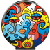 """Goebel Vase Billy The Artist - \""""Together / Two in One\"""" 20,0 cm"""