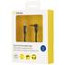 Kanex AUX Stereo Flachkabel - 3,5mm Klinke - 90° gewinkelt - 1.80m - schwarz