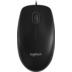 Logitech® Maus B100, USB, Optisch Schwarz, 800 dpi, 3 Tasten, OEM