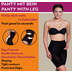 Miss Perfect Miederhose Bauchweg Unterhose Body Shaper seamless figurformend Schwarz 2XL (46)