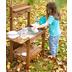Roba Matschküche Midi, Kinder-Outdoor-Gartenküche für Wasser & Sand, wetterfest, Massivholz, teak