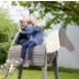 Roba Outdoor- Spielpferd grau, massivholz mit Mähne und Schweif, 123 x 65 x 153 cm