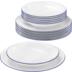 Seltmann Weiden Compact Tafelservice für 6 Personen 12-teilig Blaurand