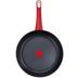 Tefal Jamie Oliver Topf- und Pfannen-Set Red Collection Edelstahl 8-teilig (Pfanne Ø 24 cm und Ø 28 cm, Kochtopf Ø 24 cm, Stielkasserolle Ø 16 cm und Ø 18 cm) Edelstahl/Rot