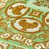 Versace Vliestapete Decoupage metallic creme grün 10,05 m x 0,70 m