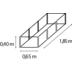 vitavia Hochbeet Linus In&Out 401 granit/schwarz S