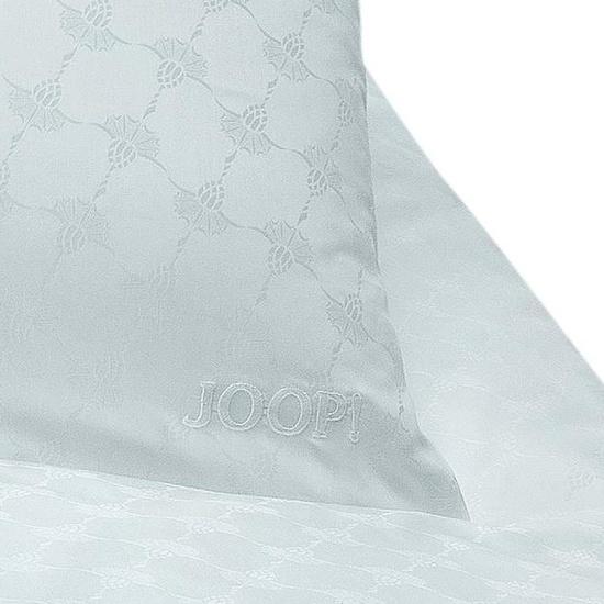bilder joop mako satin bettw sche cornflower uni wei bezug 135x200 cm kissenbezug 80x80. Black Bedroom Furniture Sets. Home Design Ideas