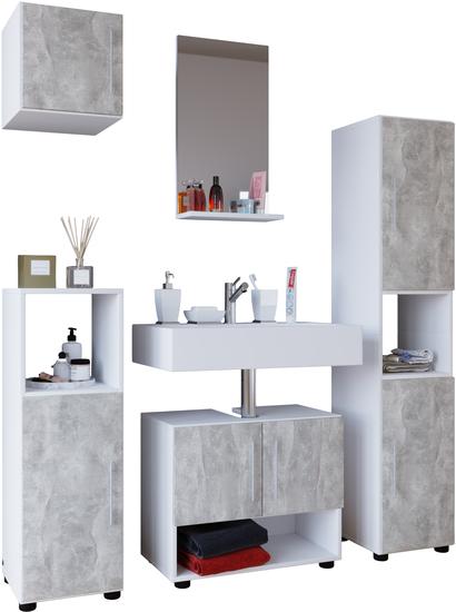 Vcm Badmöbel Set 2x Badschrank Unterschrank Spiegel Hängeschrank