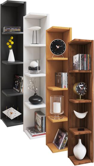 cd eckregal bucher holz wandhangend ohne schwarz eckregal wandmontage wandregal keller edel. Black Bedroom Furniture Sets. Home Design Ideas