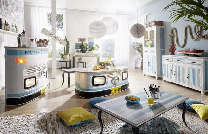 Produktbilder: Wohnling Esstisch LINA Massivholz Shabby Chic 80x77x80 Cm Esszimmertisch  Modern, Design Küchentisch Massiv Klein, Massivholztisch Esszimmer, ...