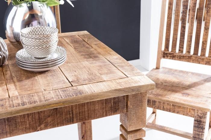 Produktbilder: Wohnling Esstisch RUSTICA 80 X 80 X 76 Cm Mango Massivholz  Quadratisch | Küchentisch Rustikal | Design Holz Esszimmertisch | Tisch  Esszimmer ...