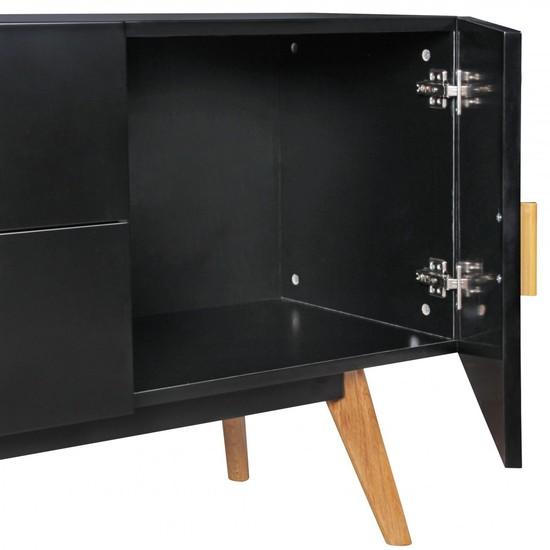 Kommode design flur  Bilder - Wohnling Retro Sideboard SCANIO MDF-Holz Schwarz 2 ...