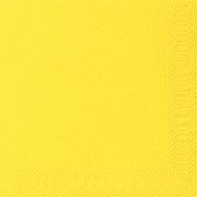 Duni Servietten 3lagig Tissue Uni gelb, 33 x 33 cm, 20 Stück