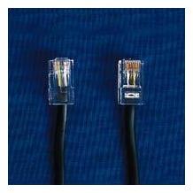HDK ISDN Anschlusskabel schwarz, 3 m