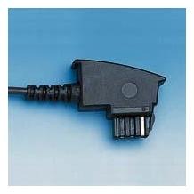 HDK Anschluss-Schnur TAE N -> RJ11, 3m schwarz, US Norm