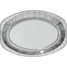 Duni Buffet Platten oval, alu silber, 333 x 233 x 25 mm, 8 Stück