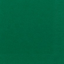 Duni Servietten 3lagig Tissue Uni dunkelgrün, 33 x 33 cm, 50 Stück