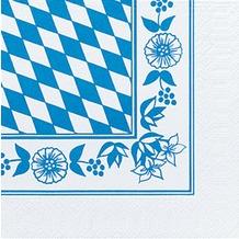 Duni Servietten 3lagig Tissue Motiv BayRaute, 33 x 33 cm, 50 Stück