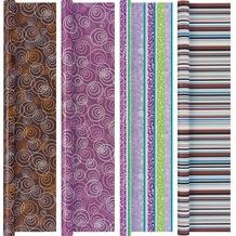 Duni Geschenkpapier auf Rolle, 4 Rollen, Top-Kollektion Trendstyle, 2 m x 70 cm