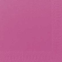 Duni Servietten 3lagig Tissue Uni fuchsia, 33 x 33 cm, 250 Stück