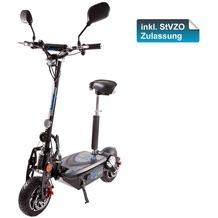 SXT-Scooters SXT1000 XL EEC Elektro Scooter Modell mit 1000 Watt & Straßenzulassung schwarz 48V 12Ah Bleiakku