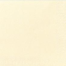 Duni Servietten 3lagig Tissue Uni champagne, 33 x 33 cm, 250 Stück