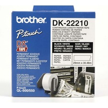 Brother DK-22210 Endlosetiketten (Papier, weiß, 29 mm)