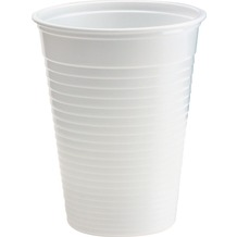 Duni Kunststoff-Becher weiß, 21 cl, 50 Stück