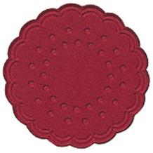 Duni Untersetzer 9lagig Tissue Uni bordeaux, 25 Stück