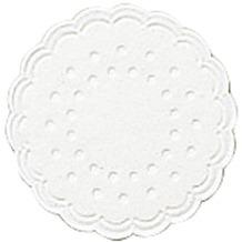 Duni Untersetzer 9lagig Tissue Uni weiß, 25 Stück