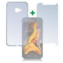 4smarts 360° Protection Set für Samsung Galaxy Xcover 4s transparent