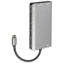 4smarts 8in1 Hub USB Typ-C auf Ethernet, HDMI, 3x USB 3.0 und Kartenleser space-grau