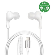 4smarts Aktives In-Ear Stereo Headset Melody Digital USB Typ-C  weiß