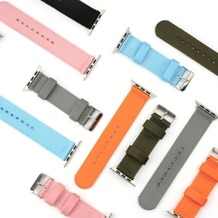 4smarts Fabric Armband für Apple Watch Series 4 (40mm) & Series 3/2/1 (38mm) orange