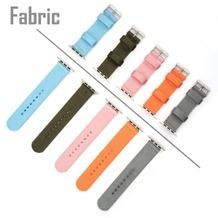 4smarts Fabric Armband für Apple Watch Series 4 (44mm) & Series 3/2/1 (42mm) rosa