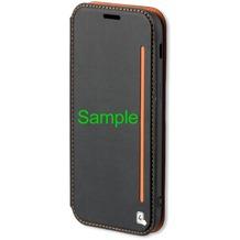 4smarts Flip-Tasche TWO-TONE+ für iPhone X - schwarz/orange