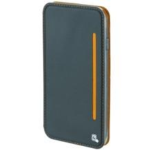 4smarts Flip-Tasche TWO-TONE für Samsung Galaxy A3 (2017) blaugrau/orange