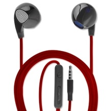 4smarts In-Ear Stereo Headset Melody 3,5mm Audiokabel 1,2m schwarz/rot