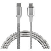 4smarts Magnetisches Typ-C auf Typ-C Kabel GRAVITYCord Ultimate 1,8m silber/weiß