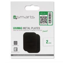 4smarts Metallplättchen UltiMAG 2 Stück Kunstleder - schwarz