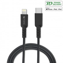 4smarts Mfi USB Typ-C auf Lightning Kabel RAPIDCord PD 1m grau/schwarz