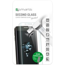 4smarts Second Glass 2.5D Curved Colour Rim für iPhone 7 Plus silber