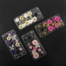 4smarts Soft Cover Glamour Bouquet für Huawei Mate 20 weiße Blumen /silberne Flocken