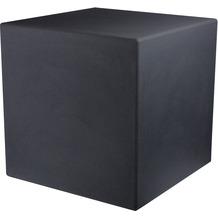 8 Seasons Dekoleuchte Shining Cube 'Anthrazit' 33 cm
