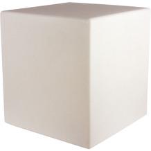 8 Seasons Dekoleuchte Shining Cube 'Sand' 33 cm