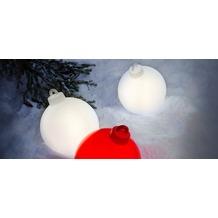 8 Seasons Shining Christmas Ball weiß