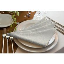 adam Argentinian Criolla Light 100% Bio-Baumwolle Serviette 30x30 (4er Pack) hellgrau
