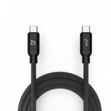 ADAM Elements CASA C100+ USB-C/USB-C Kabel 100W, 1m, schwarz, ACBADC100BK