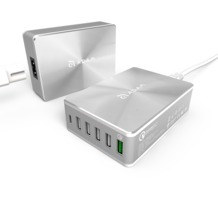 ADAM Elements OMNIA PA601- Multi USB Charger with QC 3.0 Port , Silver -
