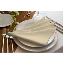 adam Uni Light Collection 100% Bio-Baumwolle Serviette 30x30 (4er Pack) beige
